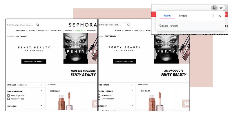 bestellen bij Sephora