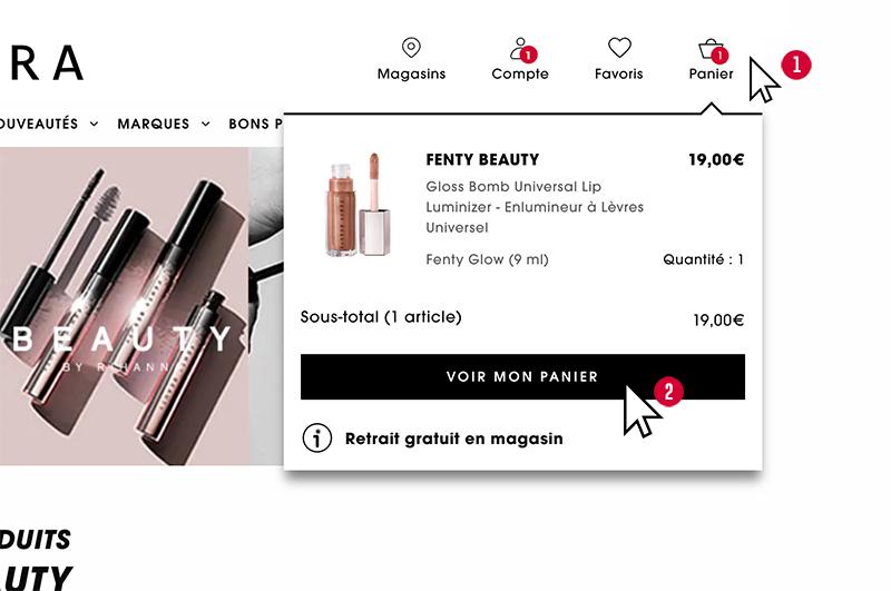 bestellen bij de franse Sephora