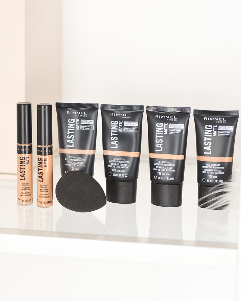 Rimmel lasting matte foundation concealer review