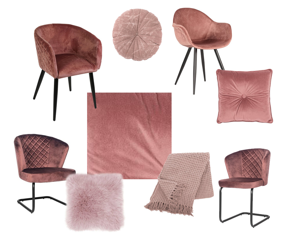 roze interieur eetkamerstoelen woonq